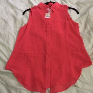 Button down sheer blouse